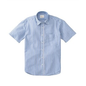 CANTERBURY WOOD(カンタベリーウッド)サッカーストライプ柄半袖カジュアルシャツ カジュアルシャツ