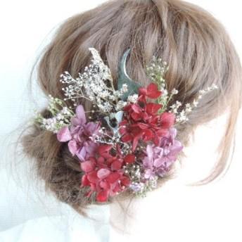 結婚式 卒業式 成人式 髪飾り ドライフラワー プリザーブドフラワー