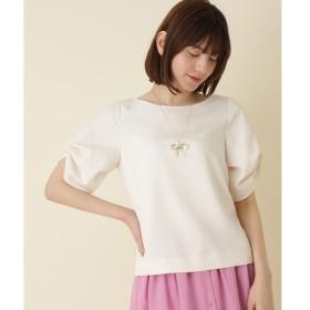 Couture Brooch / クチュールブローチ 【WEB限定サイズ(S・LL)あり/洗える】袖つまみリボンブラウス