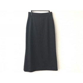 【中古】 バレンチノ VALENTINO ロングスカート サイズ40 M レディース ダークグレー MISS V