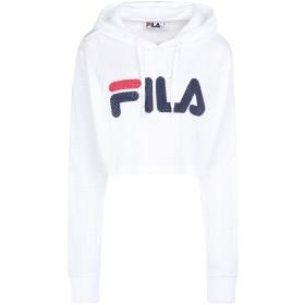 《9/20まで! 限定セール開催中》FILA HERITAGE レディース スウェットシャツ ホワイト XS ポリエステル 100% WOMEN NOEMI CROP HOODIE