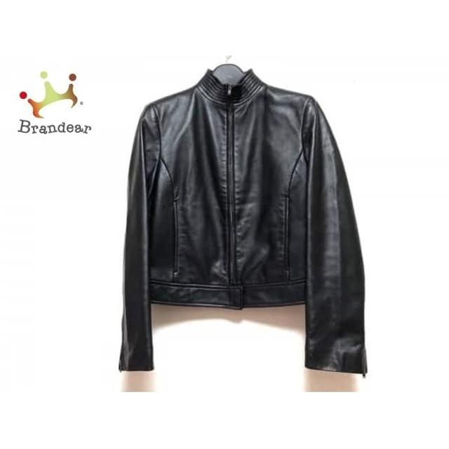 ダナキャラン DKNY ブルゾン サイズ2 M レディース 黒 春・秋物/レザー 新着 20190509