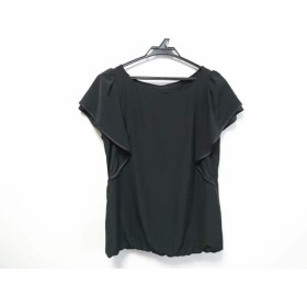 【中古】 ジャスグリッティー JUSGLITTY 半袖カットソー サイズ2 M レディース 黒