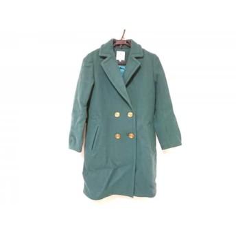 【中古】 ランバンオンブルー LANVIN en Bleu コート サイズ38 M レディース 美品 グリーン 冬物