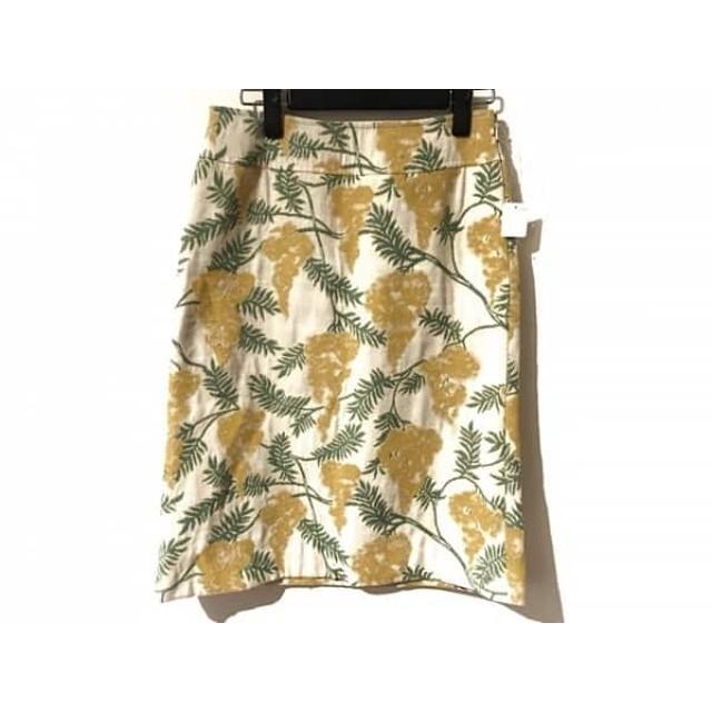 【中古】 ケイタマルヤマ スカート サイズ1 S レディース イエロー グリーン マルチ 花柄