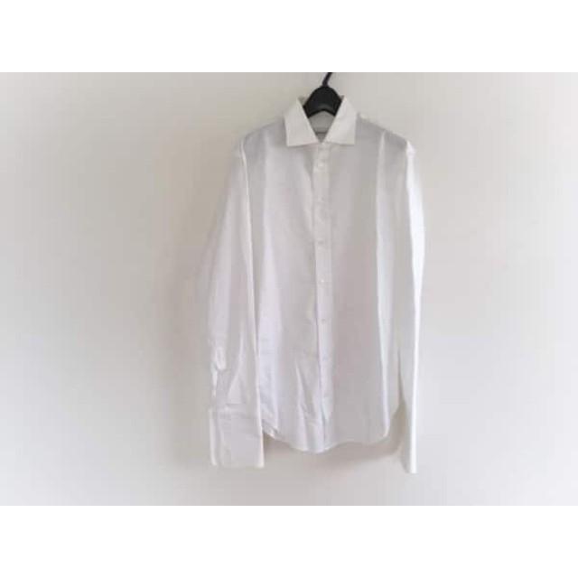 【中古】 アルマーニコレッツォーニ ARMANICOLLEZIONI 長袖シャツ サイズ38 M メンズ 白