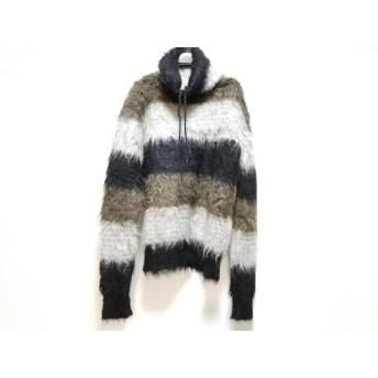 【中古】 サンローランパリ 長袖セーター サイズS メンズ 美品 480767Y1UI11075 黒 ライトグレー カーキ
