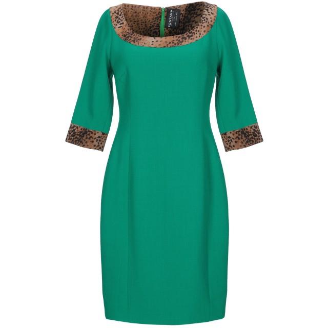 《セール開催中》FONTANA COUTURE レディース ミニワンピース&ドレス グリーン 40 ウール 100%