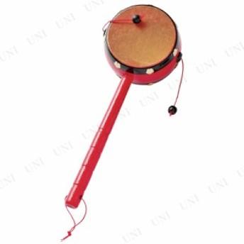 【取寄品】 でんでん太鼓 中 オモチャ 日本の伝統玩具 昔のおもちゃ レトロ