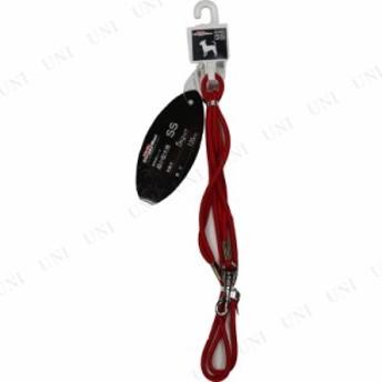 【取寄品】 ドギーマン 細丸リード 4mm 赤 犬用品 ペット用品 ペットグッズ イヌ いぬ 伸縮リード