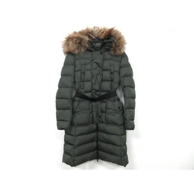 【中古】 モンクレール ダウンコート サイズ0 XS レディース KHLOE(クロエ) 49884-25-68065 カーキ 冬物