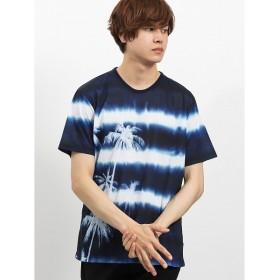[マルイ]【セール】エステル昇華転写パームツリーボーダー クルーネック半袖Tシャツ/セマンティックデザイン(semantic design)