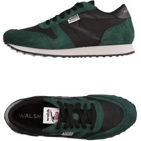 《セール開催中》WALSH メンズ スニーカー&テニスシューズ(ローカット) ダークグリーン 8 革 / 紡績繊維