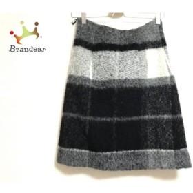 セオリー theory スカート サイズ0 XS レディース 美品 黒×グレー×ライトグレー 新着 20190509