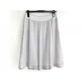 【中古】 ジユウク 自由区/jiyuku スカート サイズ38 M レディース 美品 ベージュ アイボリー