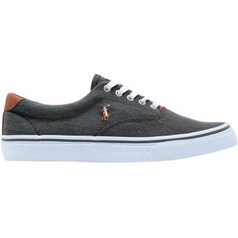 《期間限定セール開催中!》POLO RALPH LAUREN メンズ スニーカー&テニスシューズ(ローカット) グレー 41 紡績繊維 / 革 Thorton Washed Twill Sneaker