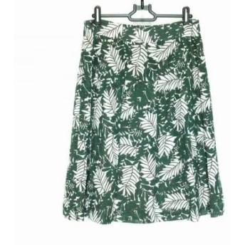 【中古】 ニジュウサンク 23区 スカート サイズ40 M レディース グリーン 白 ダークブラウン