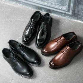 ビジネスシューズ メンズ ウィングチップ 歩きやすい ドレスシューズ ユーチップ 通勤 OL ブローグ 紳士靴 プレーントゥ レースアップ