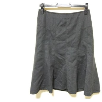 【中古】 バーバリーロンドン Burberry LONDON スカート サイズ38 L レディース ダークグレー