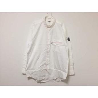 【中古】 シナコバ SINACOVA 長袖シャツ サイズL メンズ 美品 アイボリー 黒 ピンク