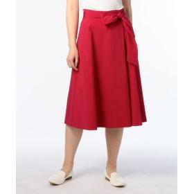 (NOLLEY'S/ノーリーズ)リボン付ハイウエストラップスカート/レディース ピンク