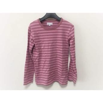 【中古】 アニエスベー agnes b 長袖Tシャツ サイズT2 レディース ピンク ボーダー