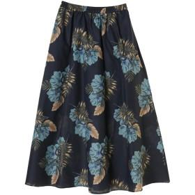 【5,000円以上お買物で送料無料】大花柄ロングギャザースカート