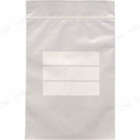 【取寄品】 TRUSCO チャック付ポリ袋(白枠付き) 0.04mm厚 70X50mm 30 梱包用品