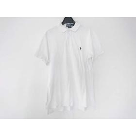 【中古】 ポロラルフローレン POLObyRalphLauren 半袖ポロシャツ サイズM メンズ 白