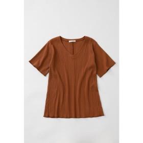 【50%OFF】 マウジー V NECK FLARE RIB Tシャツ レディース BRN FREE 【MOUSSY】 【セール開催中】