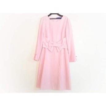 【中古】 エムズグレイシー M'S GRACY ワンピース サイズ40 M レディース ピンク リボン