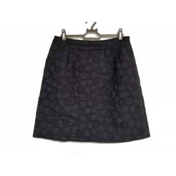 【中古】 エムズグレイシー M'S GRACY スカート サイズ40 M レディース 黒 パッチワーク