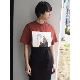 【10%OFF】 ムルーア GirlルーズTシャツ レディース ブラウン F 【MURUA】 【セール開催中】