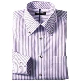 50%OFF【メンズ】 形態安定デザインYシャツ(すっきりシルエット) - セシール ■カラー:パープル系 ■サイズ:41(裄丈84)