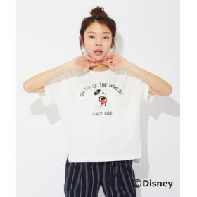 DISNEY ディズニープリントTシャツ(ミッキー) レディース オフシロ