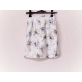 ジャスグリッティー JUSGLITTY スカート サイズ0 XS レディース 白×マルチ 花柄【中古】