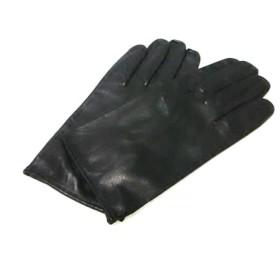 【中古】 セルモネータグローブス Sermoneta gloves 手袋 8 1/2 レディース 美品 黒 レザー