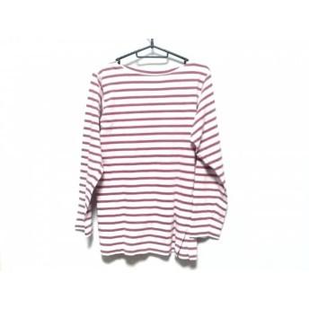 【中古】 アニエスベー agnes b 長袖Tシャツ レディース 白 ピンク ボーダー