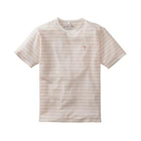 変わり編ボーダー半袖Tシャツ Tシャツ・カットソー