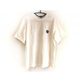 【中古】 シナコバ SINACOVA 半袖Tシャツ サイズL メンズ 美品 白 ダークネイビー LUPO DI MARE