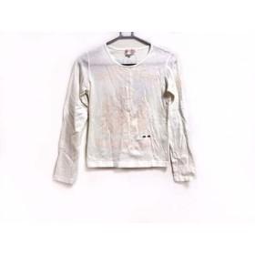【中古】 ピッコーネ PICONE 長袖Tシャツ サイズ38 S レディース アイボリー ピンク シルバー CHEEK