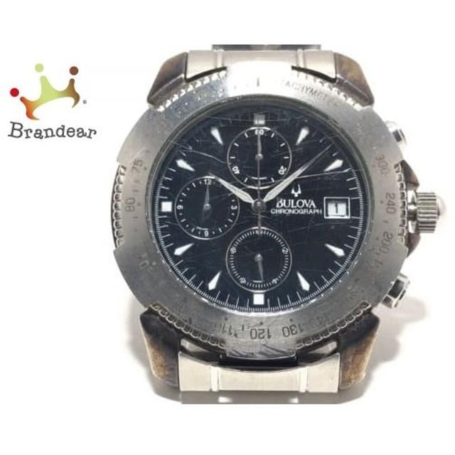 e6c84ba86d ブローバ Bulova 腕時計 - メンズ クロノグラフ 黒 新着 20190509 通販 ...