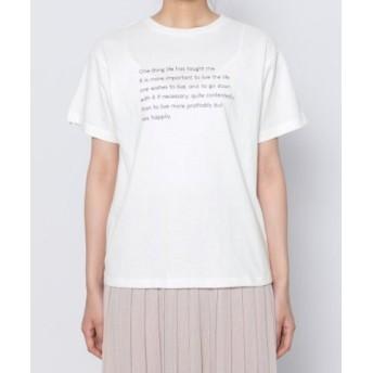 (SENSE OF PLACE/センスオブプレイス)レタリングロゴTシャツ(半袖)/レディース OFFWHITE