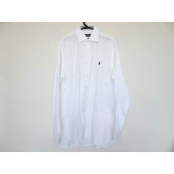 【中古】 ポロラルフローレン POLObyRalphLauren 長袖シャツ サイズ16 メンズ 美品 白 ネイビー