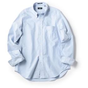シップス SHIPS×IKE BEHAR アメリカ製 オックスフォード ボタンダウン シャツ メンズ ライトブルー MEDIUM 【SHIPS】