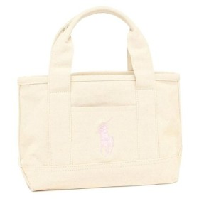 (AXES/AXES)POLO RALPH LAUREN RA100113 GIRLS TOTE レディース トートバッグ 無地 NATURAL/LIGHTPINK 白/ユニセックス NATURAL/LIGHTPINK 送料無料