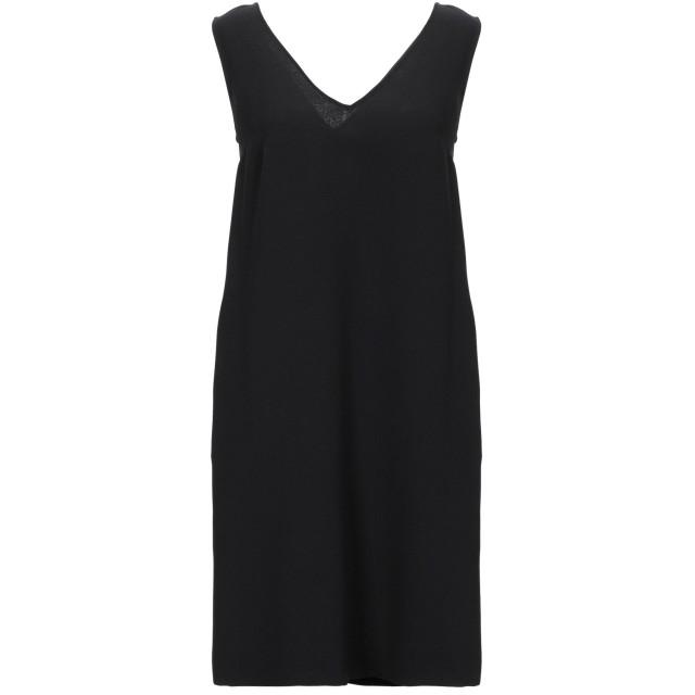《セール開催中》MAESTA レディース ミニワンピース&ドレス ブラック 40 PES - ポリエーテルサルフォン 100%