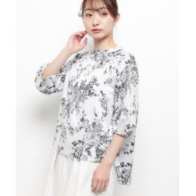 Modify / モディファイ フラワーホイル プリンシャツ