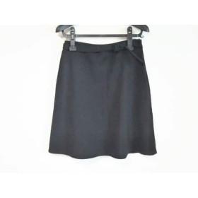 【中古】 エンポリオアルマーニ EMPORIOARMANI スカート サイズ42 M レディース 黒