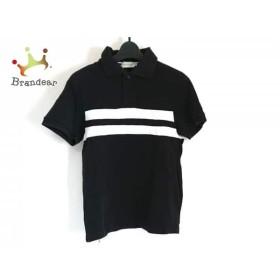 モンクレール MONCLER 半袖ポロシャツ サイズXS レディース 黒×白   スペシャル特価 20190803